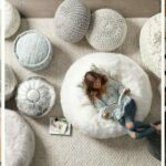 Hogar decoracion puffs