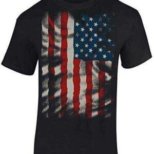 Camiseta: Stars and Stripes Flow Diseño Bandera b07t12vh9q