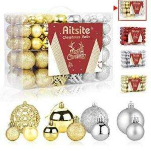 Aitsite 100PCS Bolas de Navidad 6 cm Bolas de árbol b07vqsnw92