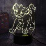 Lámpara LED de noche con diseño de El Rey León b08ffy9ds3