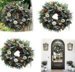 White Pumpkins Ranunculus Wreath Handmade b09g6mvwcw