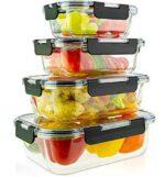 edallo® 4 recipientes de cristal para alimentos b08y1vkhcg
