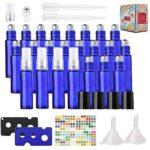 24 Botellas de Aceite Esencial de 10 ml Azul con Spray b08p1bt6wq