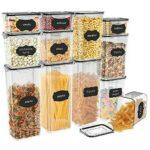 JIM'S STORE Recipientes para Cereales 12pcs Botes b093gryjqd